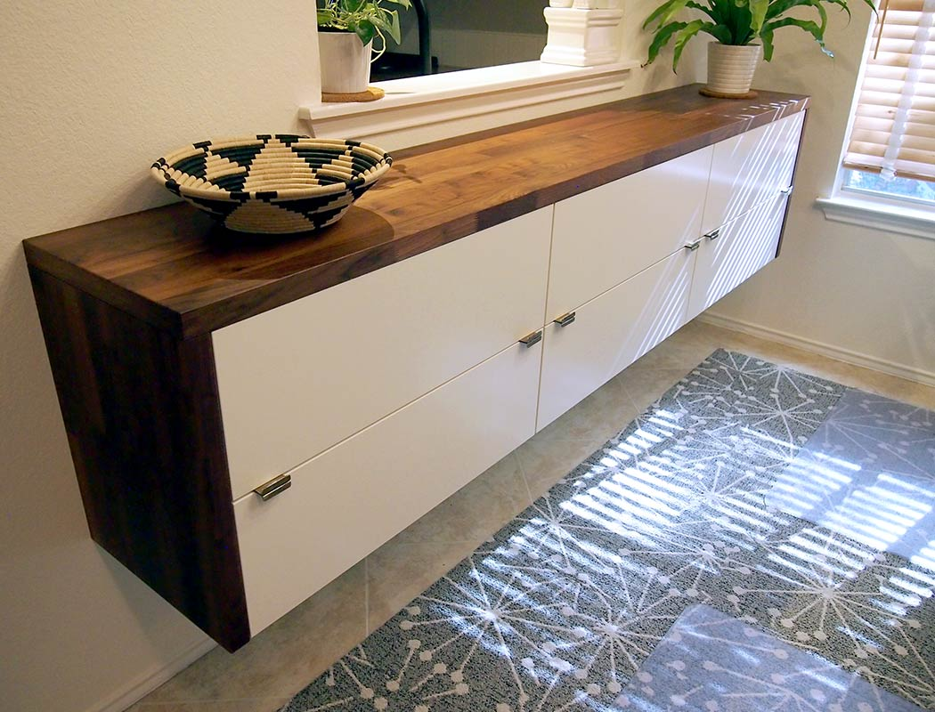 Credenza Bar Ikea : Diy fauxdenza from ikea kitchen cabinets appliances tips