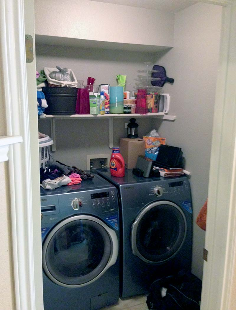 Cluttered Laundry Room Before