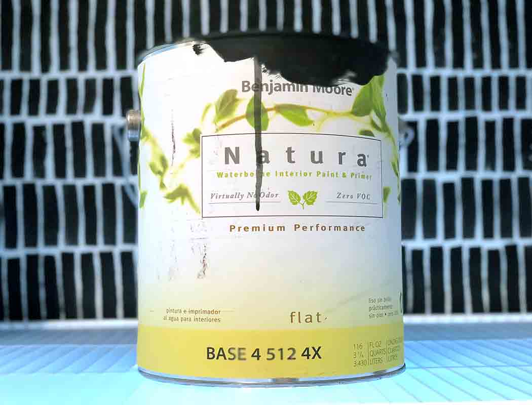 Can of Benjamin Moore Natura Indoor Paint - Flat in Twilight Zone