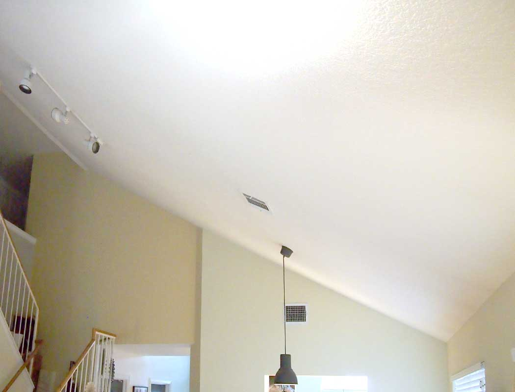 Wood Planked Ceiling Whirl Of Color Boxes Used For Lights Arent Strong Enough To Hold A Before